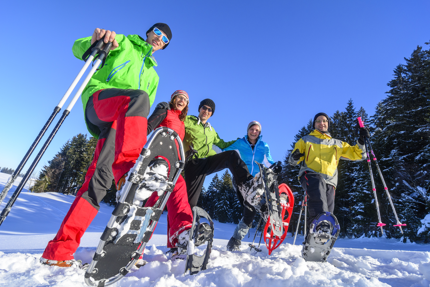 Snowshoeing is just one of the winter activities at Big White Ski Resort when you Ski and Stay at the Comfort Suites, one of the Choice hotels in Kelowna.